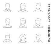 erysipelas icons set. outline... | Shutterstock .eps vector #1030475116