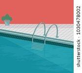 indoor swimming pool   flat...   Shutterstock .eps vector #1030478002