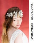 young beautiful bride with a...   Shutterstock . vector #1030479946