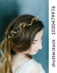 young beautiful bride with a...   Shutterstock . vector #1030479976