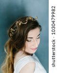 young beautiful bride with a...   Shutterstock . vector #1030479982