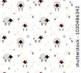 easter sheep pattern | Shutterstock .eps vector #1030486342