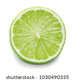 slice of lime isolated on white ... | Shutterstock . vector #1030490335