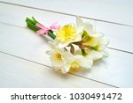 Bouquet Of Daffodil Flowers On...