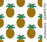 summer fresh pineapple stripe...   Shutterstock .eps vector #1030492792