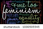 feminism word cloud on a black... | Shutterstock .eps vector #1030505545