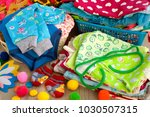 clothes for children in the... | Shutterstock . vector #1030507315