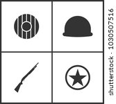 vector illustration of weapon... | Shutterstock .eps vector #1030507516