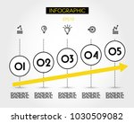 five yellow increase round...   Shutterstock .eps vector #1030509082