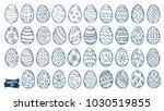 Easter Eggs Doodle Set. Spring...