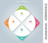 pie infographic  template  the... | Shutterstock .eps vector #1030543312