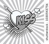 kiss with heart and arrow pop... | Shutterstock .eps vector #1030543756