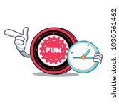 with clock funfair coin... | Shutterstock .eps vector #1030561462