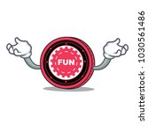 hand up funfair coin character... | Shutterstock .eps vector #1030561486