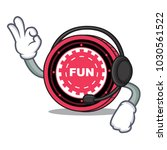 with headphone funfair coin... | Shutterstock .eps vector #1030561522