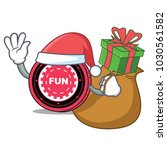 santa with gift funfair coin... | Shutterstock .eps vector #1030561582