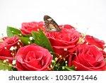 beautiful butterfly on bouquet... | Shutterstock . vector #1030571446