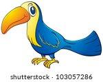 illustration of a blue toucan | Shutterstock .eps vector #103057286