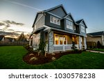 modern home in oregon at sunset   Shutterstock . vector #1030578238