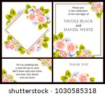 vintage delicate invitation... | Shutterstock . vector #1030585318
