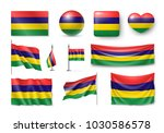 set mauritius flags  banners ...   Shutterstock .eps vector #1030586578