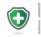 add shield icon. achievement ... | Shutterstock .eps vector #1030600528