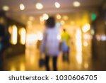 bokeh shopping mall background  | Shutterstock . vector #1030606705