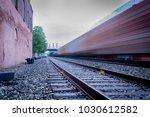 long exposure of a freight...   Shutterstock . vector #1030612582