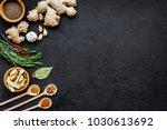 condiments  seasoning and...   Shutterstock . vector #1030613692
