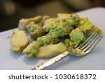 wasabi with ginger on cut board ... | Shutterstock . vector #1030618372