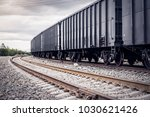 rail freight cars on rails   Shutterstock . vector #1030621426