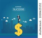 businessmen look at goals on... | Shutterstock .eps vector #1030625152