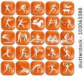 set os orange sport icons | Shutterstock .eps vector #103063388