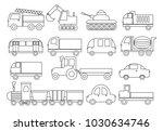 coloring book. set of transport.... | Shutterstock .eps vector #1030634746
