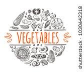 vegetables concept design.... | Shutterstock .eps vector #1030642318