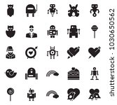 solid black vector icon set  ... | Shutterstock .eps vector #1030650562