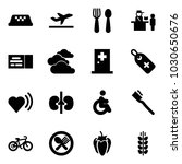 solid vector icon set   taxi... | Shutterstock .eps vector #1030650676