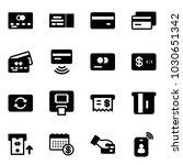 solid vector icon set   credit... | Shutterstock .eps vector #1030651342