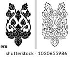 thai painting style vector... | Shutterstock .eps vector #1030655986