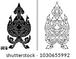 thai painting style vector... | Shutterstock .eps vector #1030655992