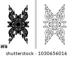 thai painting style vector... | Shutterstock .eps vector #1030656016
