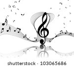 musical notes staff background...   Shutterstock . vector #103065686