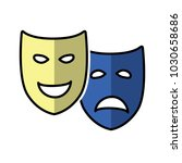 sad and happy theatrical drama... | Shutterstock .eps vector #1030658686