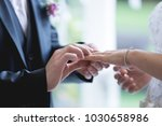 couple getting married. wedding ... | Shutterstock . vector #1030658986