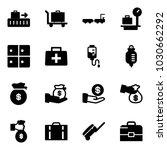 solid vector icon set   baggage ... | Shutterstock .eps vector #1030662292