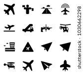 solid vector icon set   plane... | Shutterstock .eps vector #1030662298