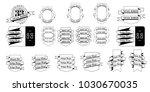set of 33 vintage banner... | Shutterstock .eps vector #1030670035