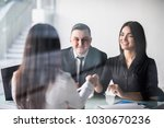 happy couple meeting with a... | Shutterstock . vector #1030670236