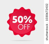 special offer sale red sticker | Shutterstock .eps vector #1030672432