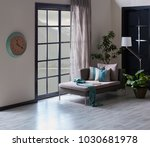 modern living room decoration... | Shutterstock . vector #1030681978